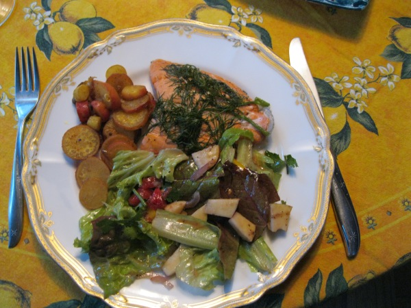 7_salmon, radishes and salad