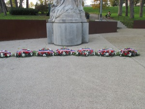 17_wreaths were deposed this morning